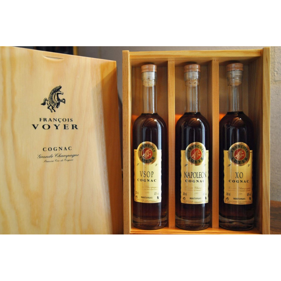 Francois Voyer Tasting Set: VSOP, Napoléon and XO Cognac 01