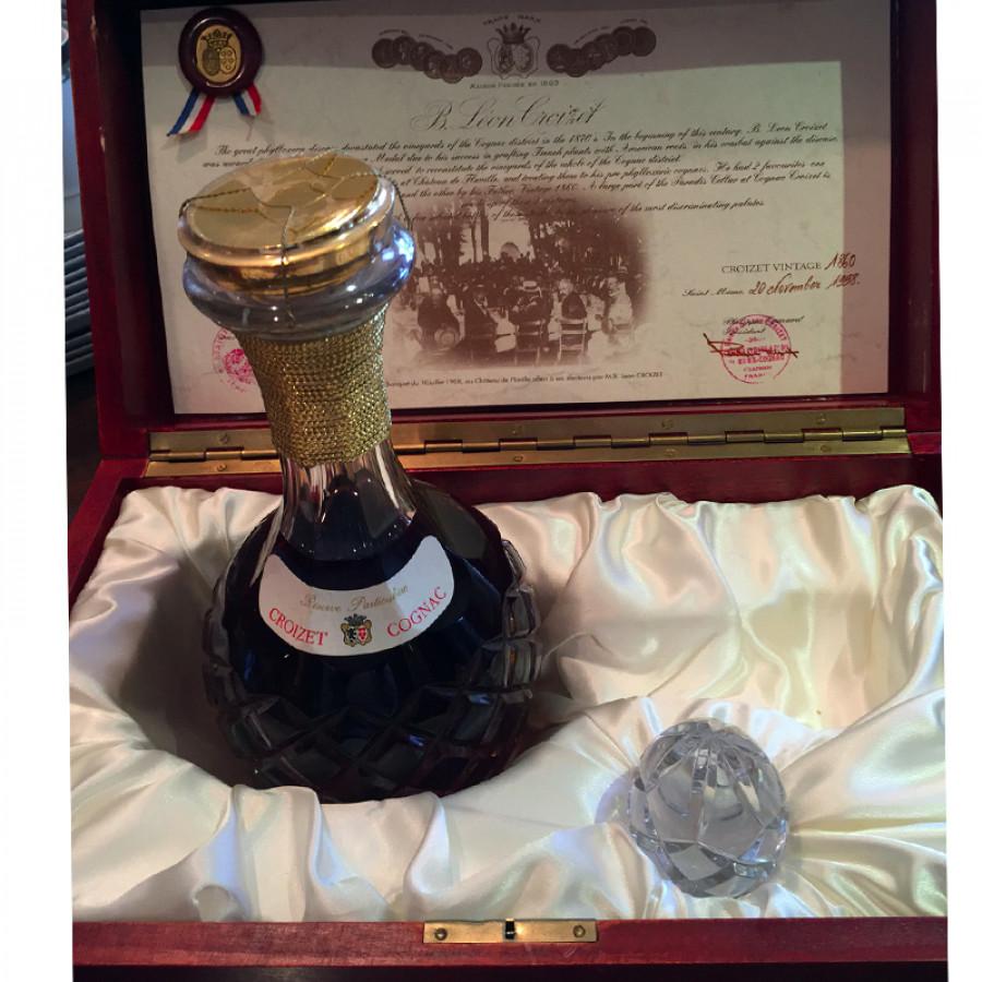 Croizet Cognac 1860, Crystal Decanter, bottled 1997