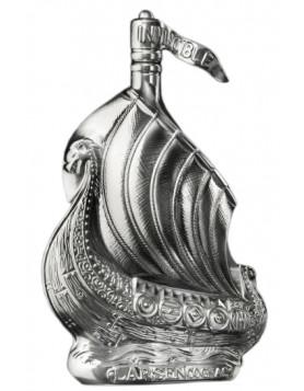 Larsen Viking Ship Silvery Sculpture