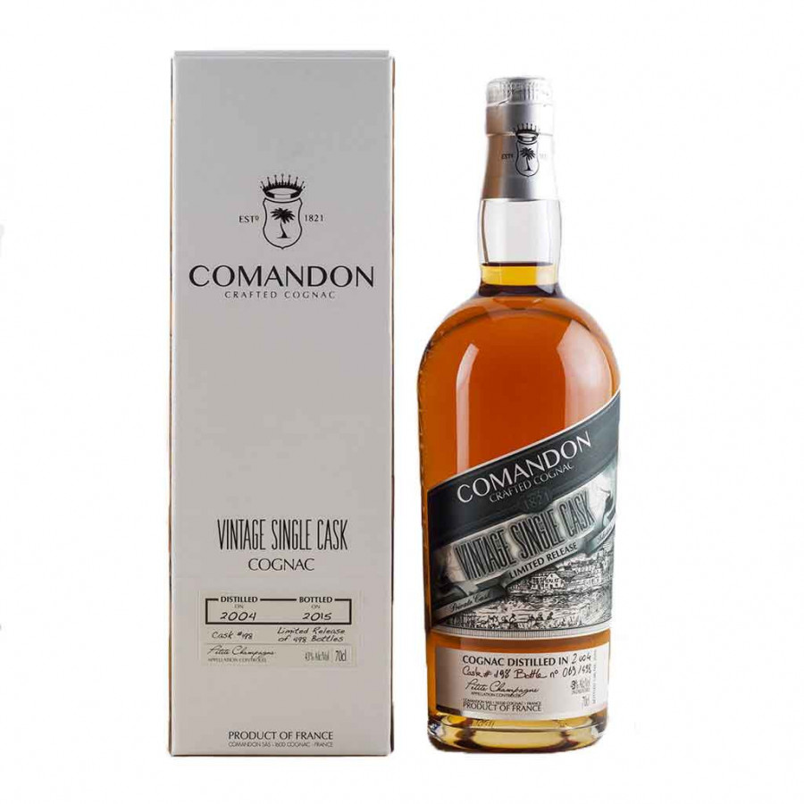 Comandon Single Cask Vintage 2004 Cognac 01