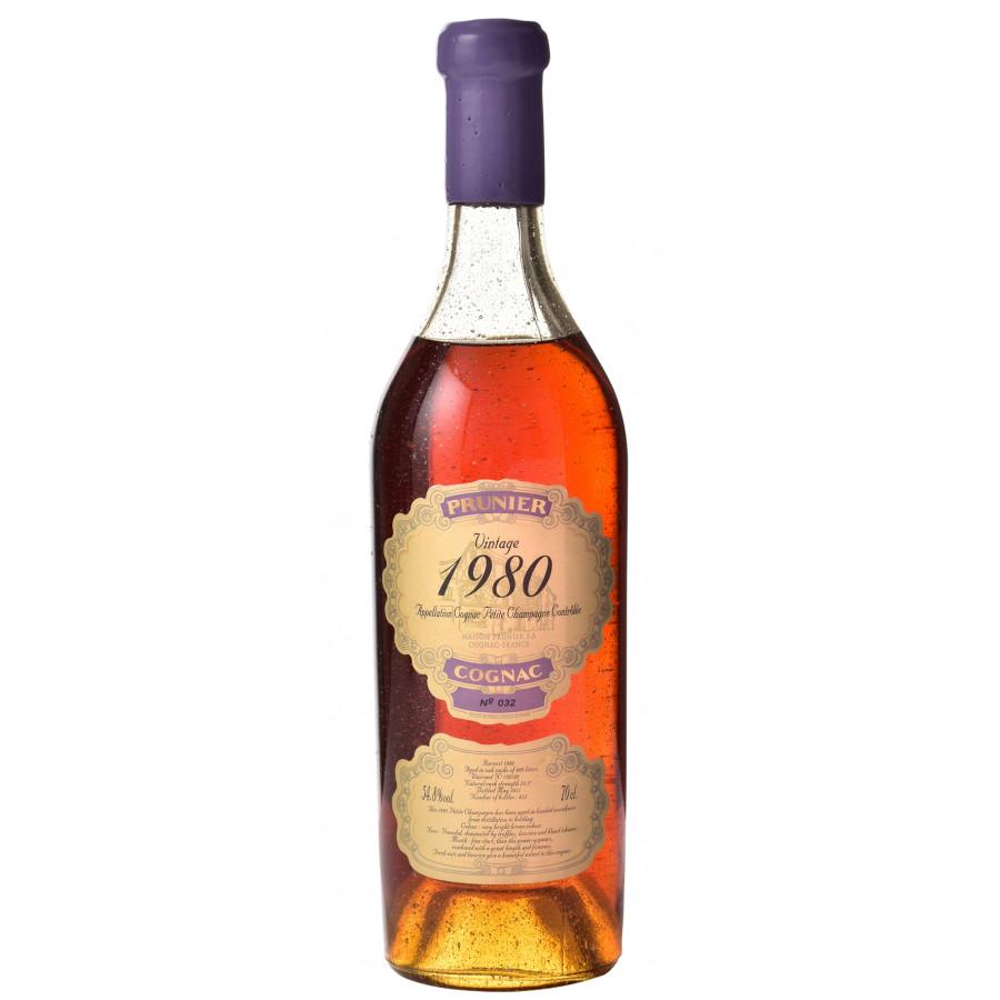 Prunier 1980 Vintage Petite Champagne Cognac 01