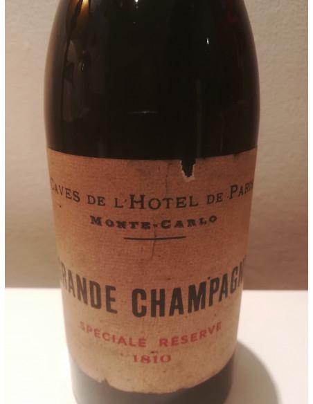 Caves de l'Hotel de Paris Monte Carlo Grande Champagne Speciale Reserve 1810 06