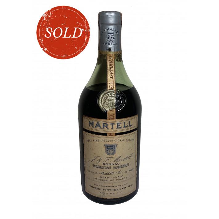 Martell Cordon Argent 1960 very fine Liqueur Cognac Brandy 01