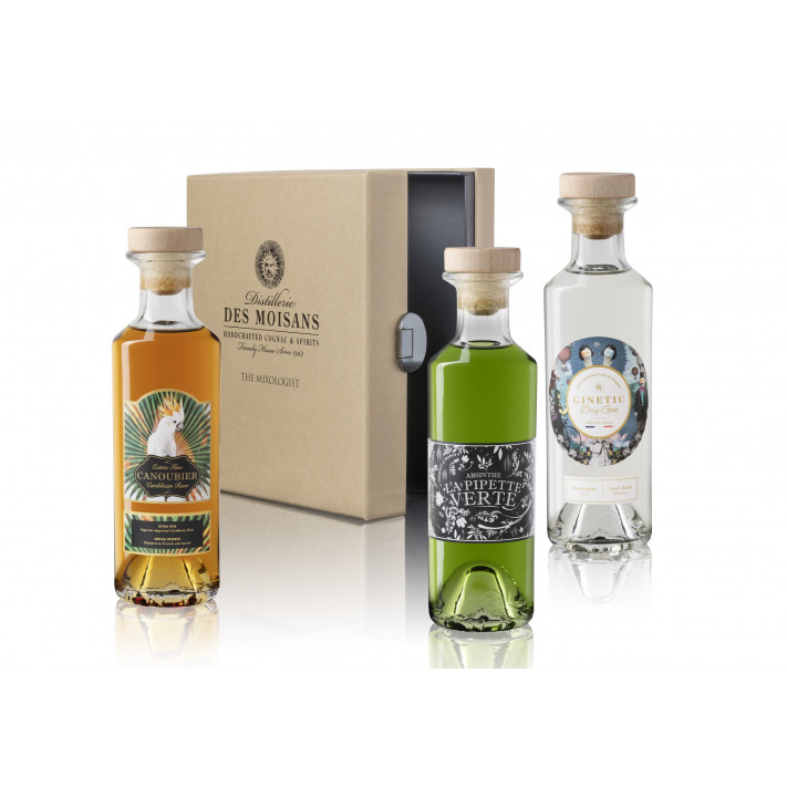 Tasting Box Mixologist : Ginetic Gin, Canoubier Rum, La Pipette Verte Absinthe 01