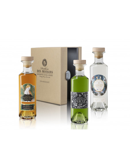 Tasting Box : Ginetic Gin, Canoubier Rum, La Pipette Verte Absinthe 03