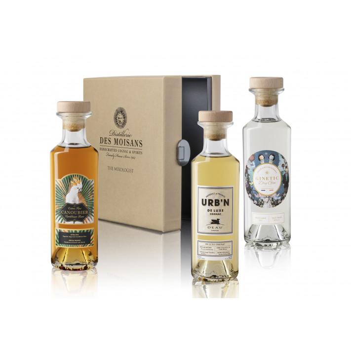 Tasting Box Mixologist : Ginetic Gin, Canoubier Rum, Deau URB'N 01