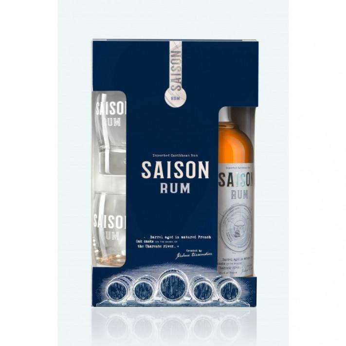 Tessendier Saison Rum Box + 2 glasses 01
