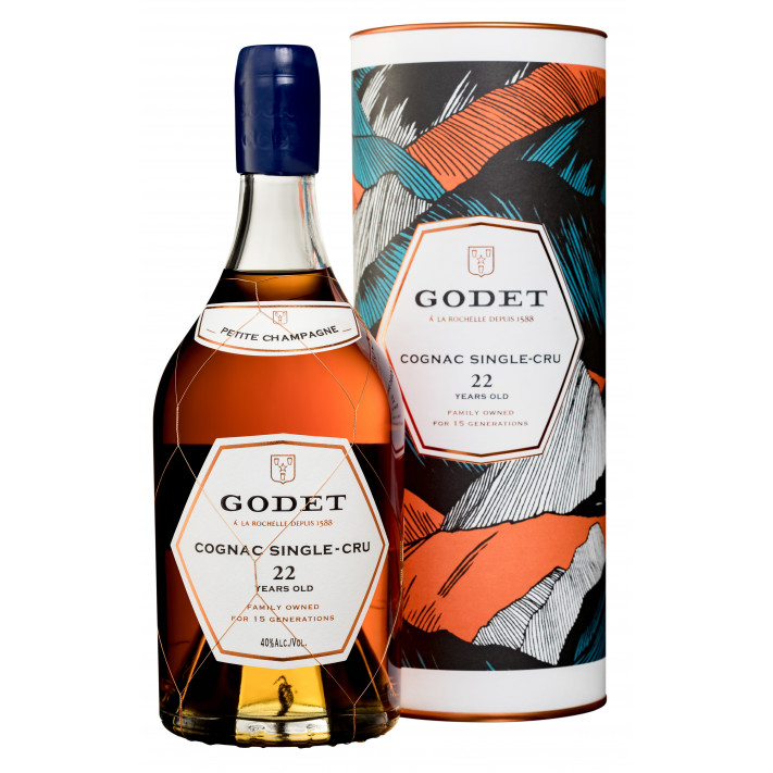 Godet Single-Cru Petite Champagne 22 Years Old Cognac 01