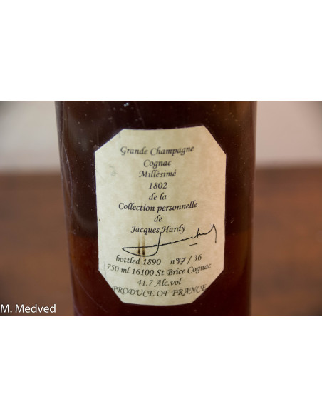 Hardy Millésime Grande Champagne 1802 Cognac 07