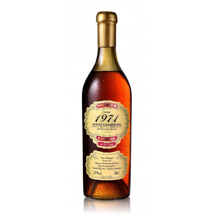 Prunier Vintage 1971 Petite Champagne Cognac 01