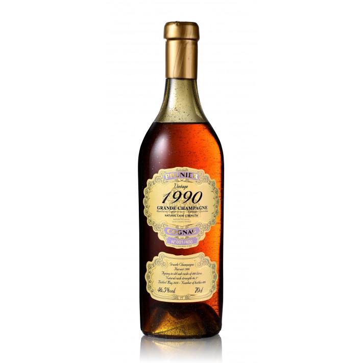 Prunier Vintage 1990 Grande Champagne Cognac 01