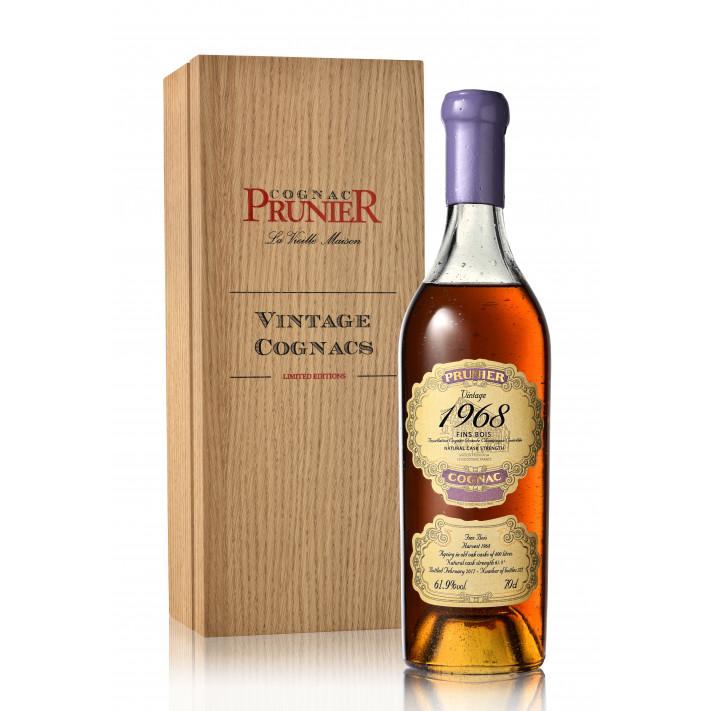 Prunier Rare Vintage 1968 Fins Bois Cognac 01