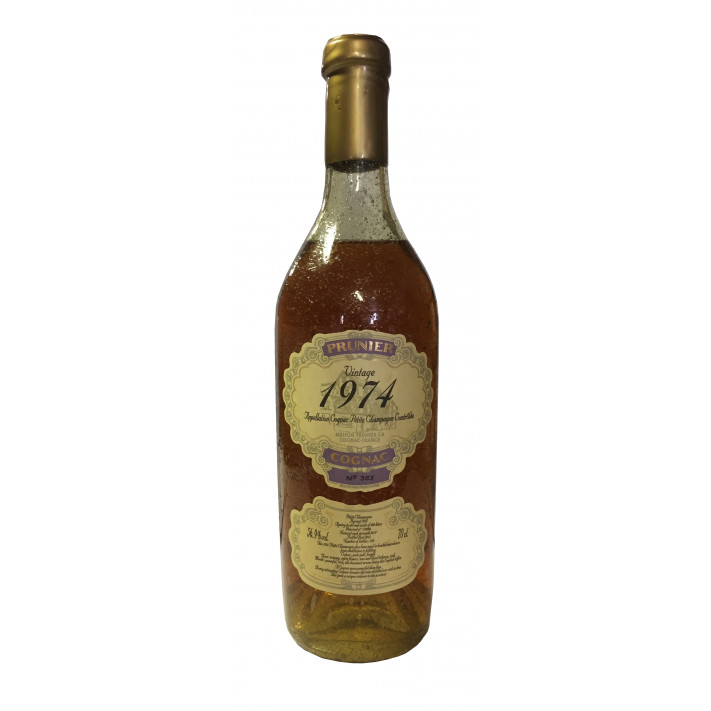 Prunier Rare Vintage 1974 Petite Champagne Cognac 01