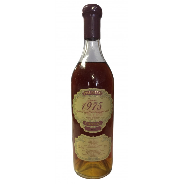 Prunier Rare Vintage 1975 Grande Champagne Cognac 01
