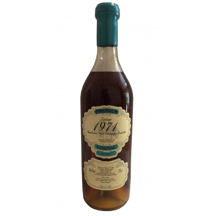 Prunier Rare Vintage 1971 Petite Champagne Cognac 01