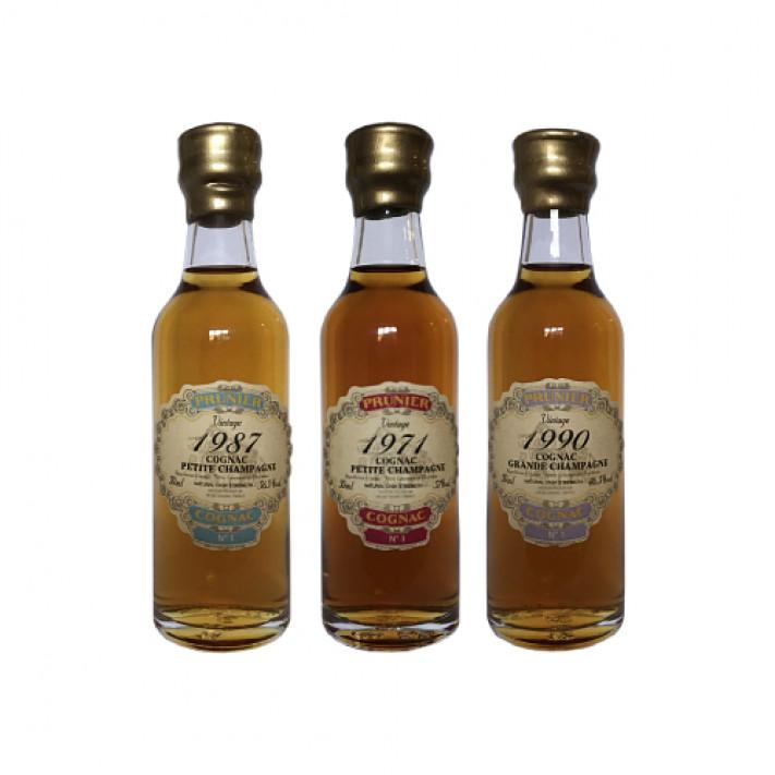 Prunier Mini Vintage Tasting Set Cognac 01