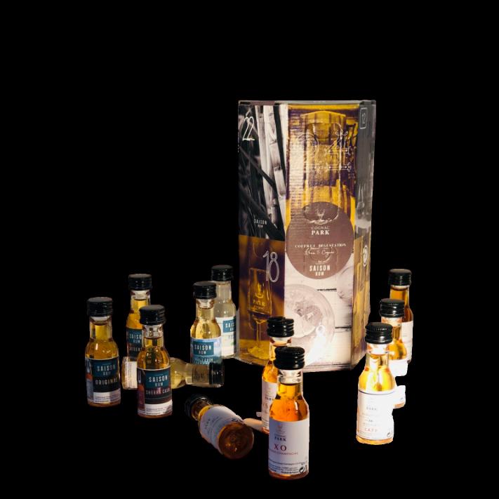 "Park Tasting Box ""Advent Calendar"" 12 Miniatures Rum and Cognac 01"