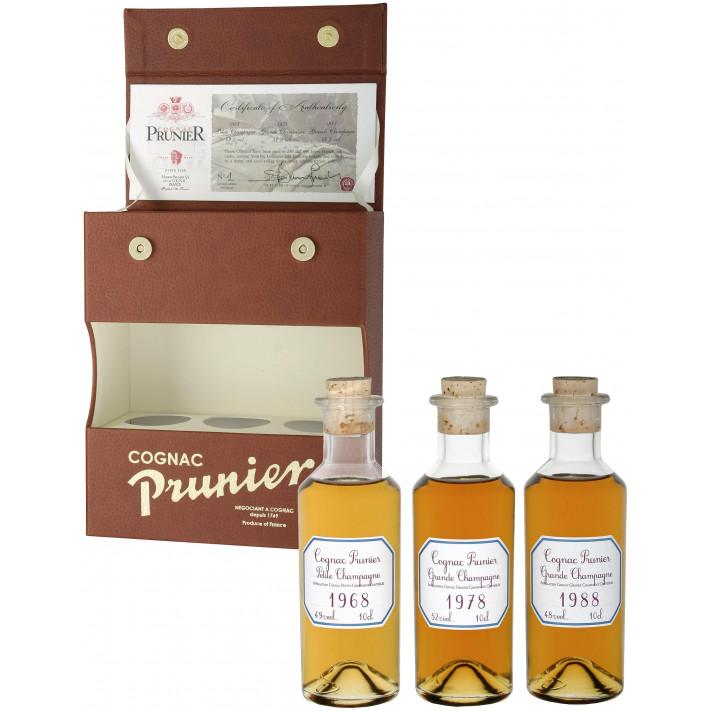 "Prunier Vintage ""Lucky"" Tasting Set Cognac 01"