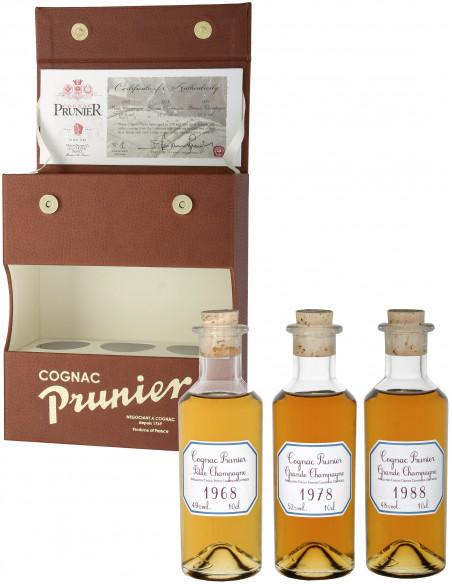 "Prunier Vintage ""Lucky"" Tasting Set Cognac 03"