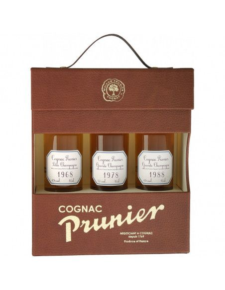 "Prunier Vintage ""Lucky"" Tasting Set Cognac 04"