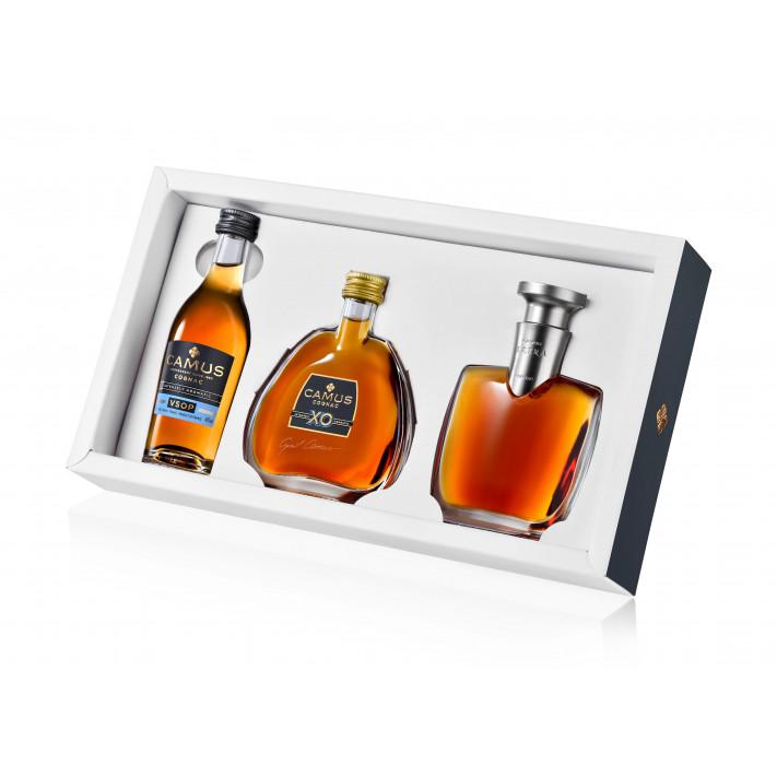 Camus Mini Set Intensely Aromatic (VSOP-XO-EXTRA) Cognac
