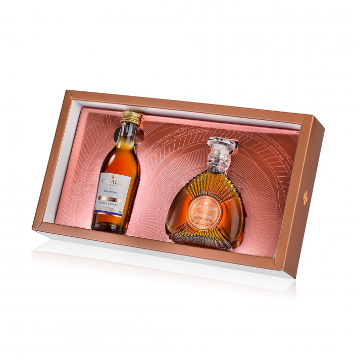 Camus Mini Set Borderies Single Estate (VSOP-XO) Cognac 01