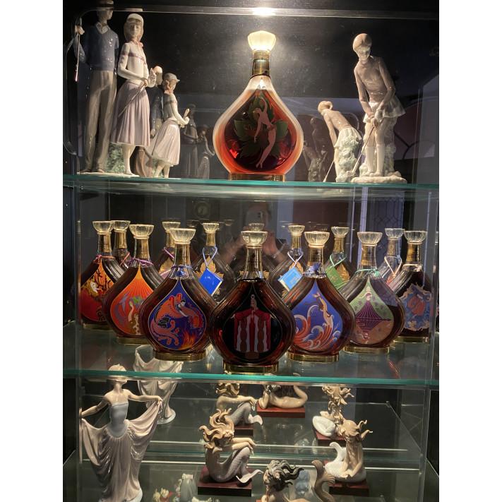 Entire collection of Erte Cognacs bottles 1-8. 01