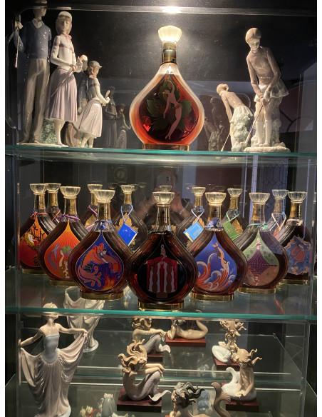 Entire collection of Erte Cognacs bottles 1-8. 07