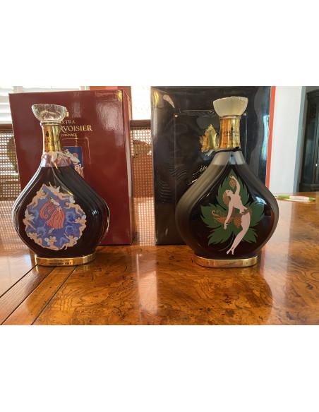 Entire collection of Erte Cognacs bottles 1-8. 011