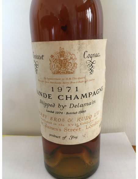 Choicest Cognac 1971 Grande Champagne shipped by Delamain 07