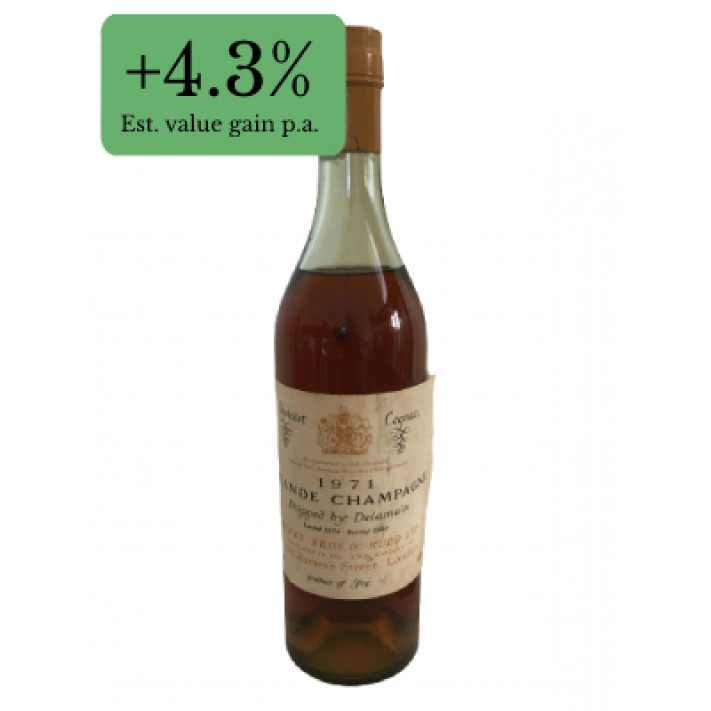 Choicest Cognac 1971 Grande Champagne shipped by Delamain 01