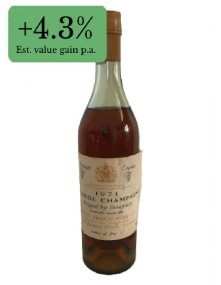 Choicest Cognac 1971 Grande Champagne shipped by Delamain 06