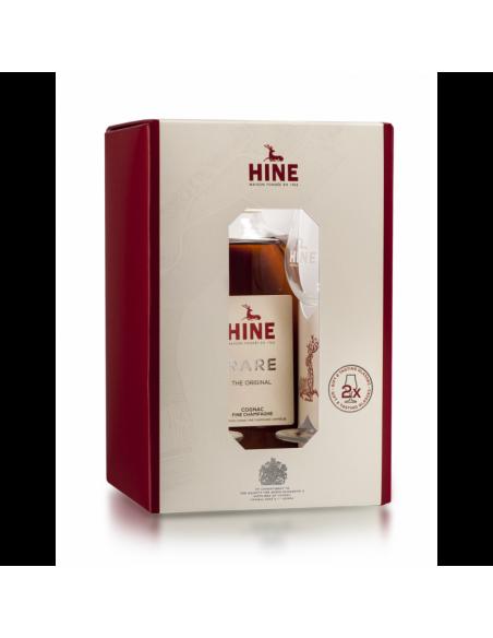 Hine VSOP Rare Fine Champagne Cognac + 2 Glasses 04