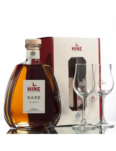 Hine VSOP Rare Fine Champagne Cognac + 2 Glasses 03