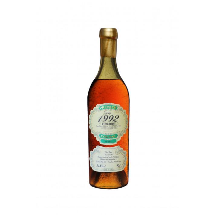 Prunier Vintage 1992 Fins Bois Cognac 01