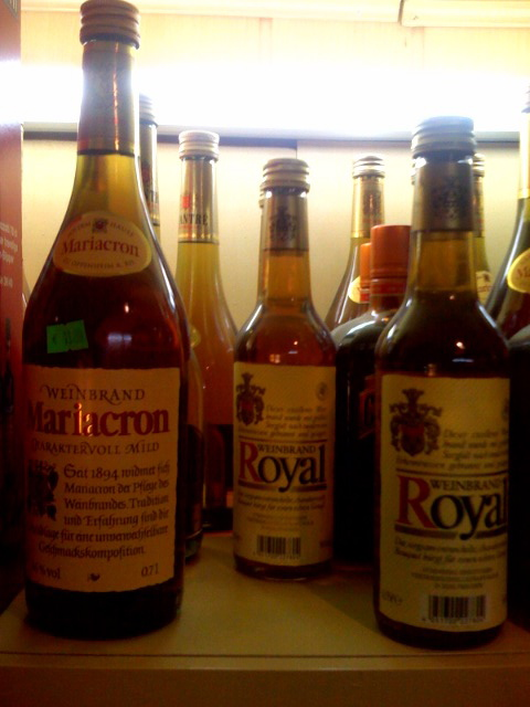 Mariacron and Royal Weinbrand