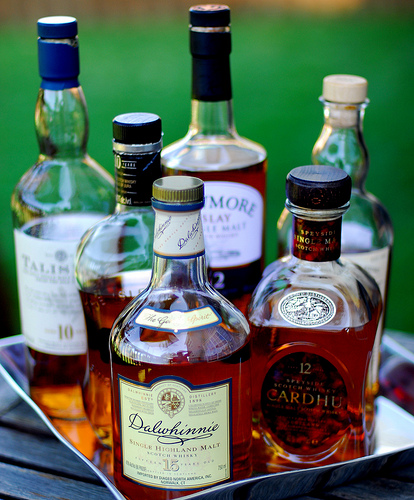 Whiskies and Cognac