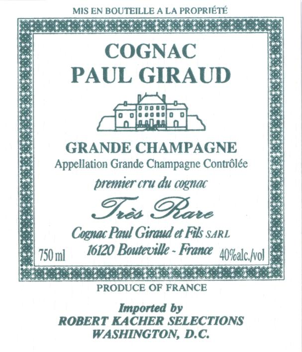 Cognac Label Paul Giraud