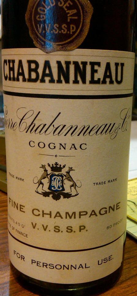 VVSSP Cognac label