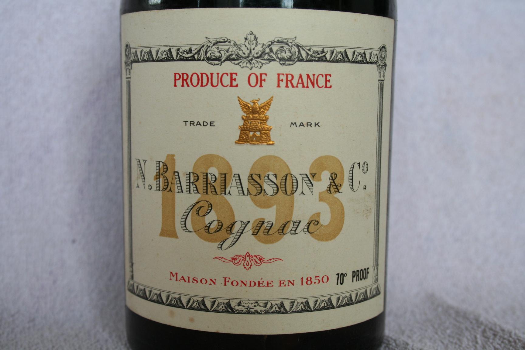 Barriasson label Grande Fine Champagne 1893