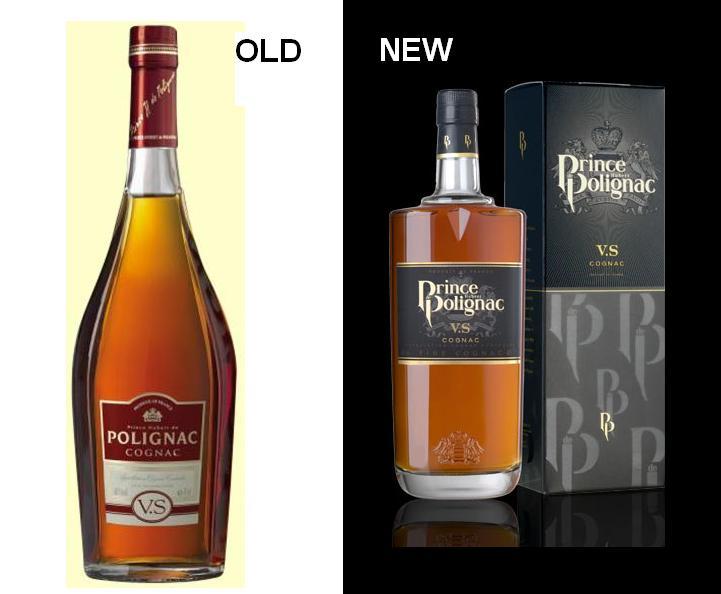 Old versus New Cognac Prince de Polignac