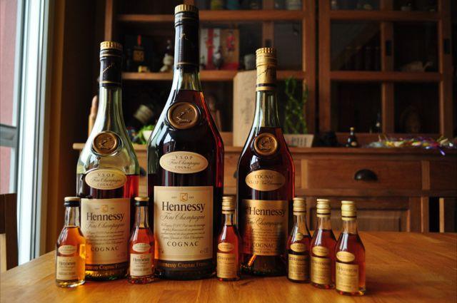 Hennessy bottles