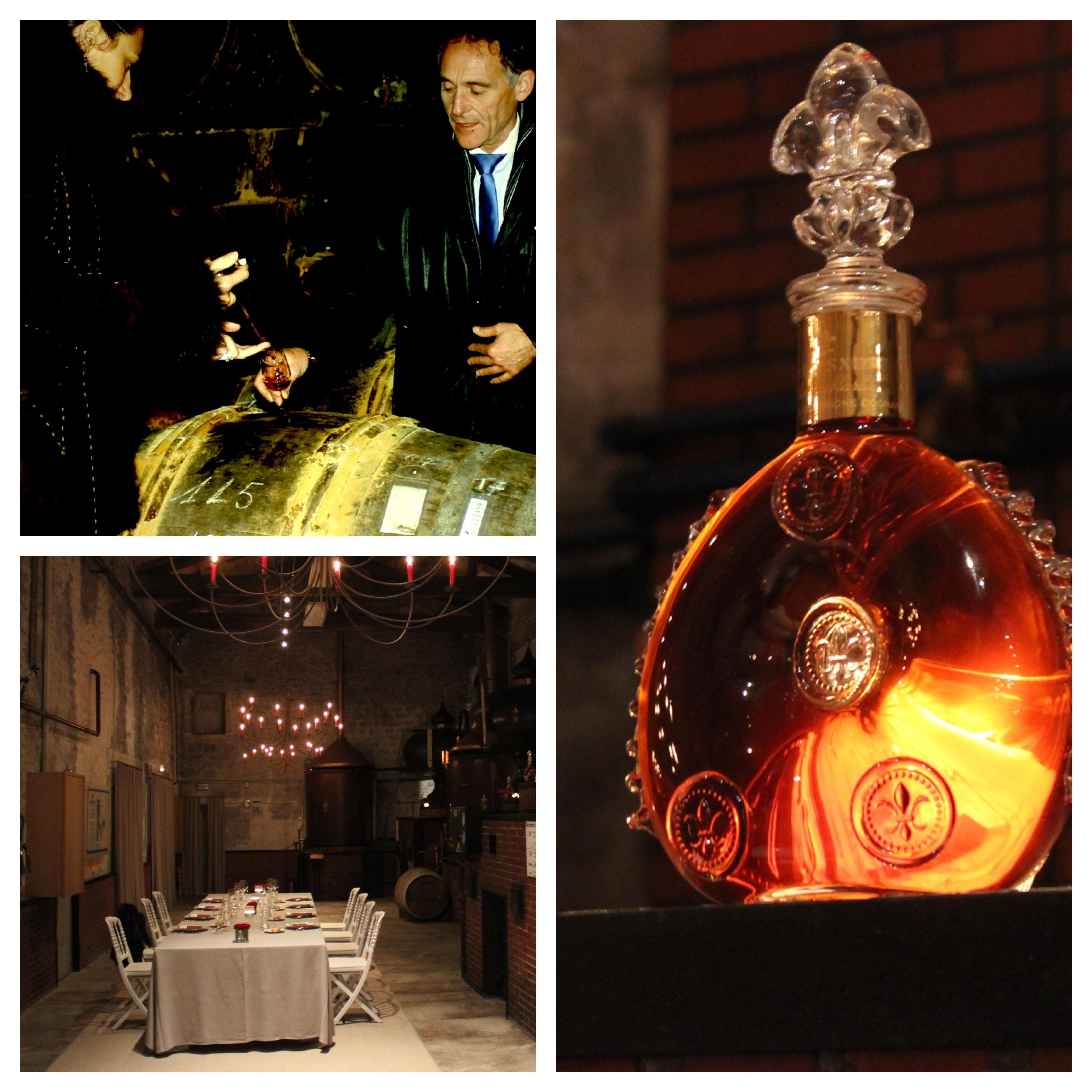Louis XIII tasting in an old distillery