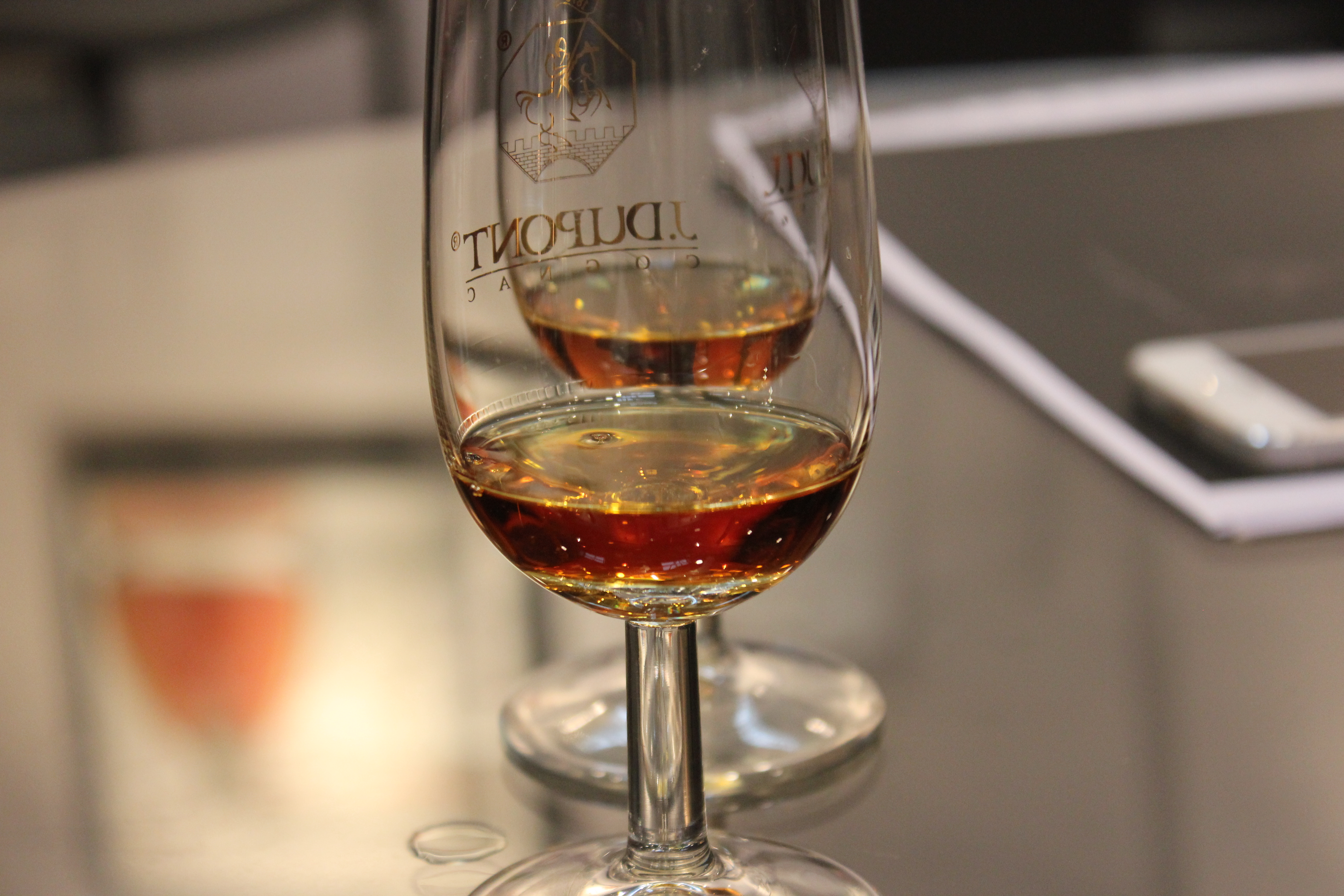 Tasting one of the new Dupont cognacs