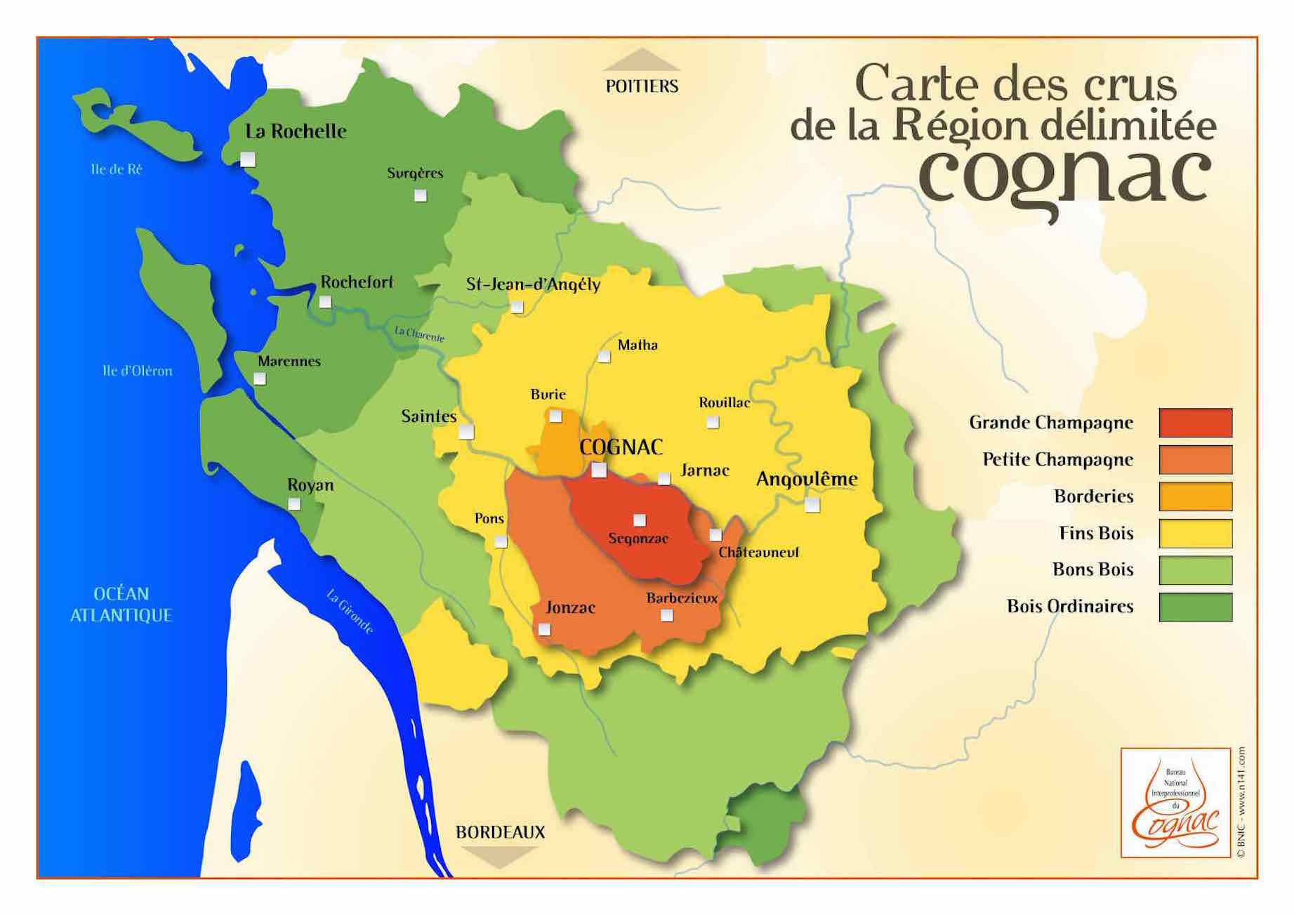 Learn about the 6 areas of the Cognac region | Cognac Expert Blog