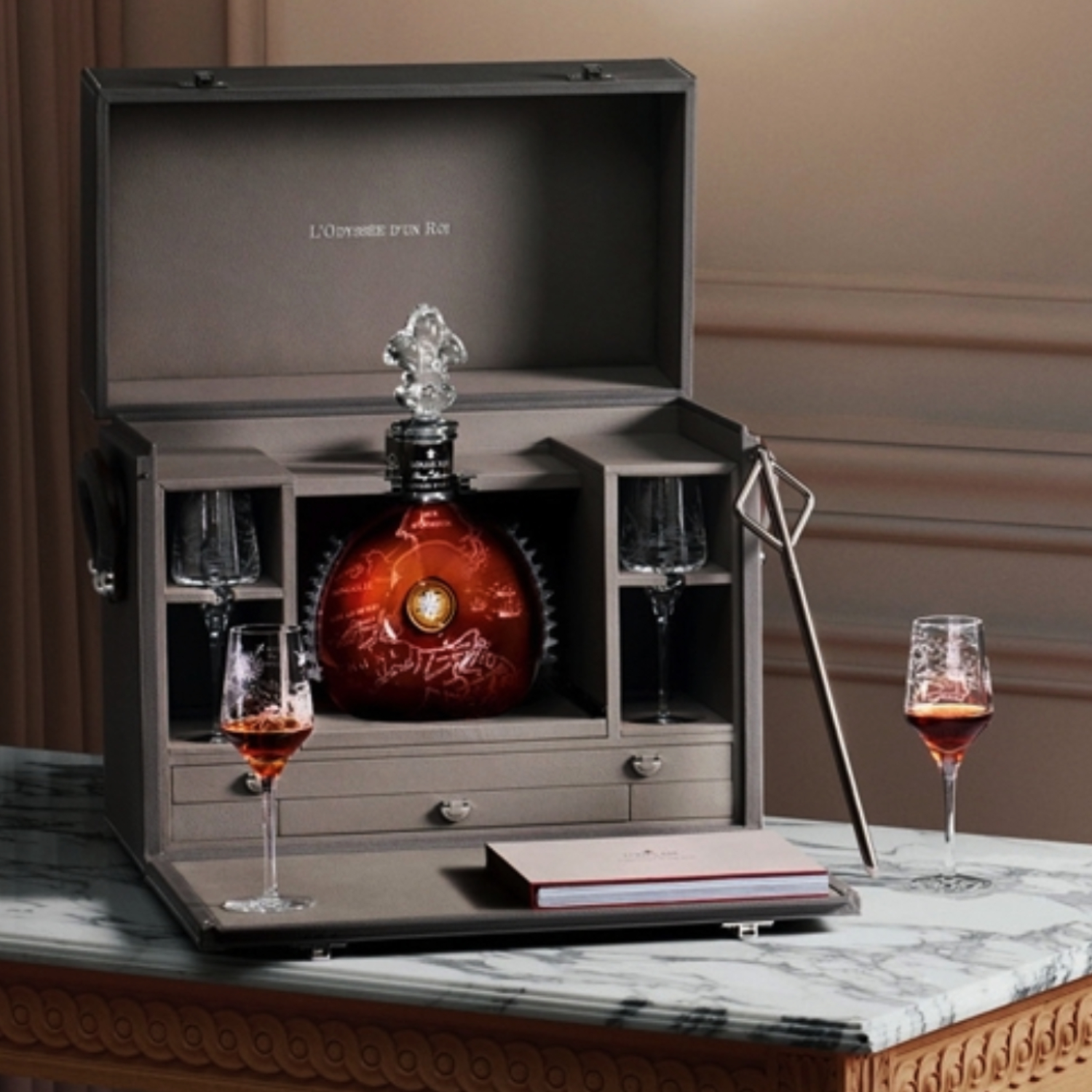 Louis XIII with Hermes box