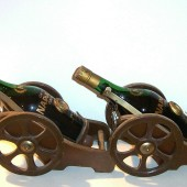 Ready for battle: 100 years old Camus Very Old Napoleon Cognac comes in a cannon